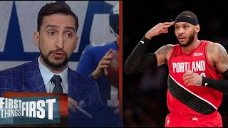 Nick Wright SHOCKED Melo's resurgence been capped off by last night's clutch 3-points