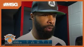 Marcus Morris Discusses Ejection in Knicks Preseason Debut   New York Knicks