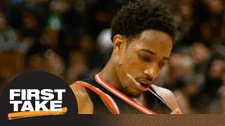 DeMar DeRozan or Raptors: First Take debates which side is right after trade   First Take   ESPN