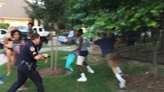 Raw Footage: Texas Cop Draws Gun on Pool-Party Teens