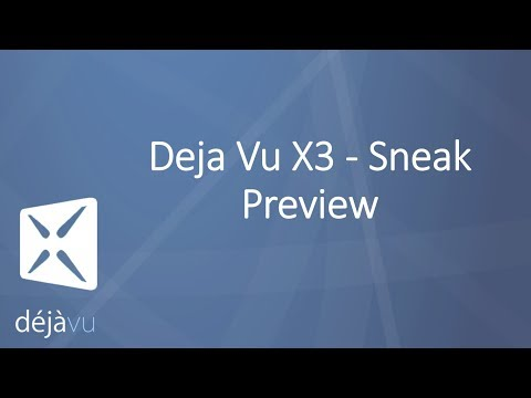 Sneak Preview Deja Vu X3 - Live Webinar presentation recorded on February 5, 2014