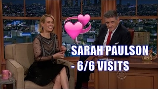 Sarah Paulson - Talks Her Dating Life, Lobster Poop & Kissing - 6/6 Appearances In Chron. Order [HD]