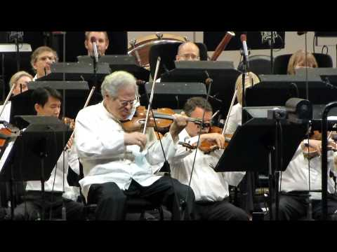 Itzhak Perlman Tchaikovsky Violin Concerto in D,Hollywood Bowl 9-13-12
