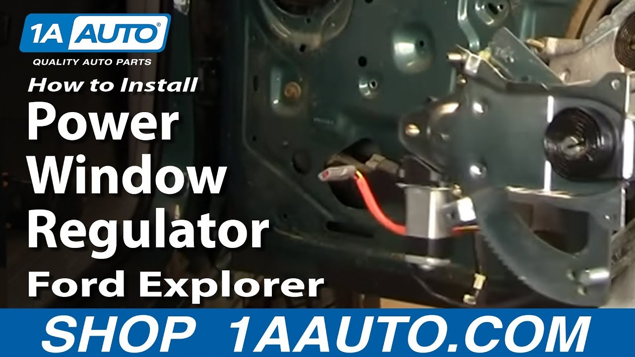 How To Install Replace Power Window Regulator Ford