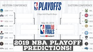 2019 NBA Playoffs: Official Playoff Predictions For Eastern & Western Conference!