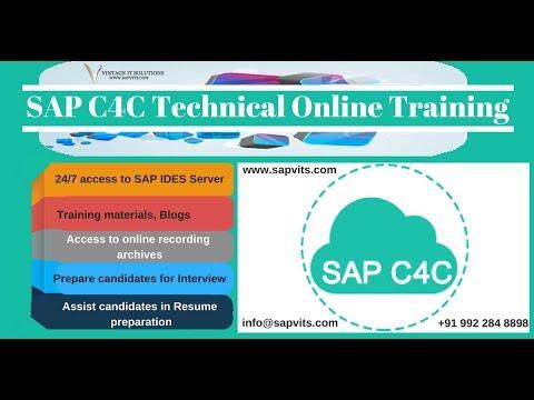 SAP C4C Technical Course Content Video