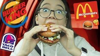 VEGAN FAST FOOD + Taste Test (McDonald's, Burger King, Taco Bell)   Fiona Frills