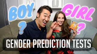 GENDER PREDICTION TESTS - Is It A Girl Or Boy? (Chinese Calendar, Ring Test, and More)