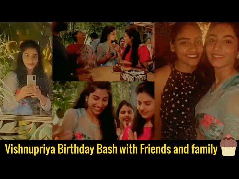 Anchor Vishnupriya shares birthday celebrations moments with Sreemukhi