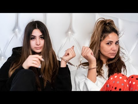 HANDCUFFED TO MY MOM FOR 24 HOURS!