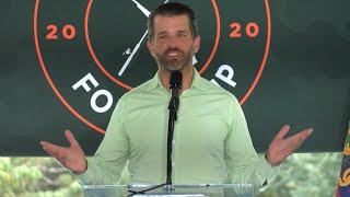Donald Trump Jr. speaks at campaign event in Harrisburg