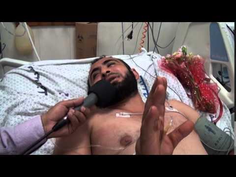 شاهد.. لقاء مع بوعزيزي غزه محمد ابوعاصي من غرفة العنايه المركزه