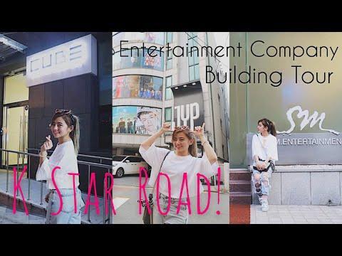 [VLOG] K STAR ROAD TOUR! JYP, Cube, SM Ent. buildings! 😍🤩