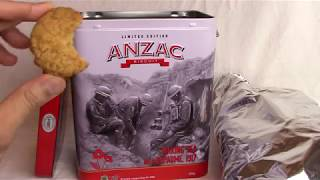 Anzac Cookie Limited Edition Tin from Australia Unboxing