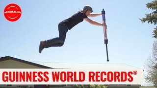 HIGHEST POGO STICK JUMP | Guinness World Records:Officially Amazing | Universal Kids