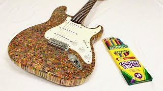 I Built a Guitar Out of 1200 Colored Pencils