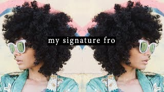 HOW TO: My Signature FRO || Natural Hair Routine