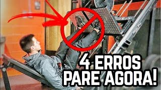 OS 4 MAIORES ERROS NO LEG PRESS! PARE DE FAZER ISSO AGORA