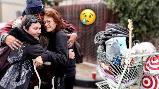 Reuniting Homeless Man with his Family after 5 YEARS!! (emotional) | FaZe Rug