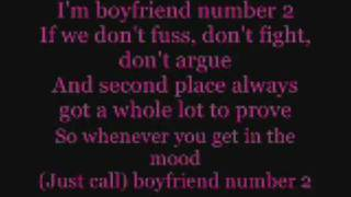 Boyfriend Number 2 lyrics