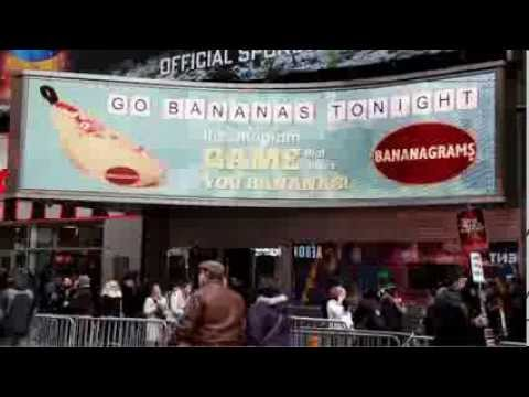 Bananagrams in Times Square!