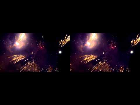 Lichterfest Bad Rappenau 2013- Feuerwerk 3D sbs