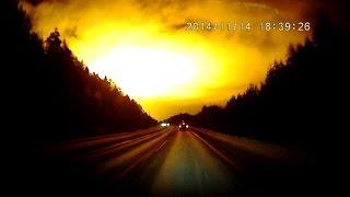 Огромная вспышка озарила небо России