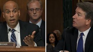 Sen. Booker asks Kavanaugh if he thinks his accuser is political operative