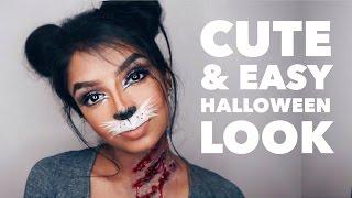 Last Minute Cute Bunny/Cat Halloween Makeup