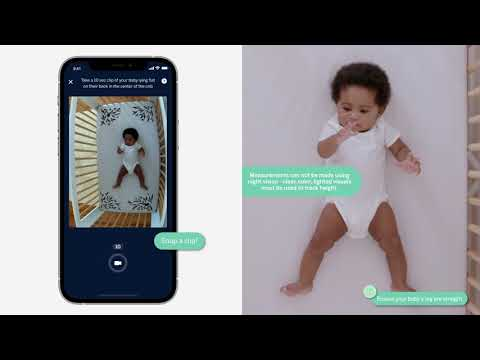 Nanit's newest AI-powered solution Smart Sheets is the first textile that allows parents to measure their baby's height and track their growth using their Nanit camera's computer vision technology.