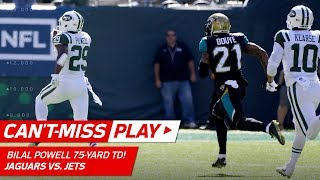 Bilal Powell Dives & Gets Up Untouched for Crazy 75-Yd TD Run! | Can't-Miss Play | NFL Wk 4