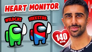 I Wore A Heart Rate Monitor While Playing AMONG US w/ Delirious, Vanoss, Wildcat, Lachlan & more!
