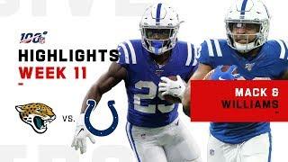 Marlon Mack & Jonathan Williams Combine for 250+ Yards!   NFL 2019 Highlights