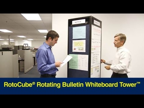 Portable Rotating Bulletin Whiteboard Kiosk (RotoCube®)