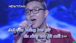 [Karaoke] Yếu Đuối - Nguyễn Hoàng Dũng  | Karaoke HD Netitan