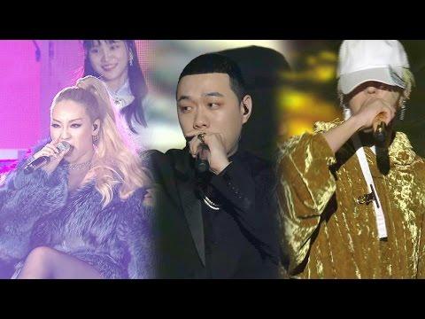 CL·GD·비와이 환상적인 콜라보 '백만원' @2016 SAF SBS 가요대전 1부 20161226