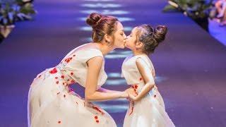 Bảo Anh bất ngờ dắt tay bản sao nhí Chu Diệp Anh lên sàn catwalk