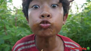Primitive Technology - Eating Delicious In Jungle - Cooking PORK RIB For Diner #149