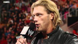 Raw: Edge reveals that he must retire from competition