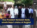 Vice President Venkaiah Naidu unveils Bapu's statue at Raj..