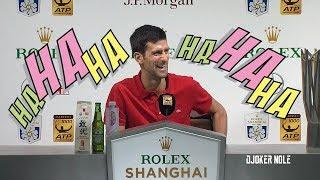 "Novak Djokovic ""Maybe I was  Chinese in the past life, HAHAHA"" - Shanghai 2018 (HD)"