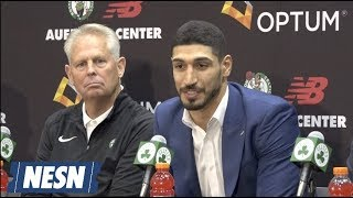 Enes Kanter Introduced As Boston Celtics New Center