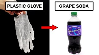 Turning plastic gloves into grape soda