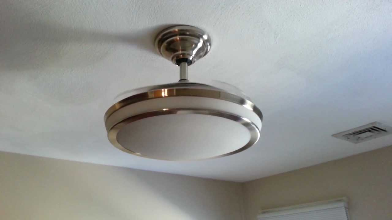 Ceiling Fan With Retractable Blades Youtube