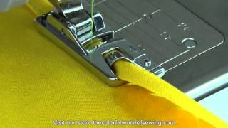 How To Sew Rolled Hems with the Narrow Hemmer Foot