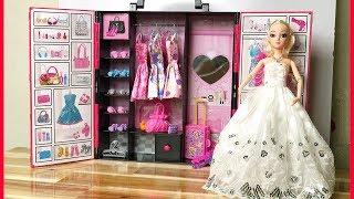 Đồ chơi BÚP BÊ & TỦ QUẦN ÁO HỒNG, thay quần áo trang điểm búp bê - Doll toys kids (Chim Xinh)