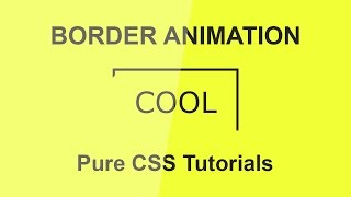 Cool Css Border Animation  - CSS3 Hover Effects - Pure CSS Tutorials - Plz SUBSCRIBE Us For more