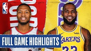 TRAIL BLAZERS at LAKERS | FULL GAME HIGHLIGHTS | January 31, 2020