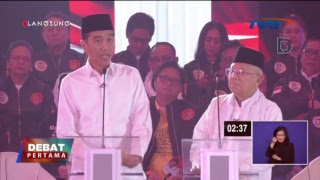 Live Streaming Debat Jokowi - Ma'ruf dengan Prabowo - Sandiaga