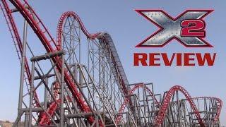X2 Review Six Flags Magic Mountain 4th Dimension Coaster